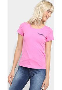 Camiseta Top Modas Weekend Feminina - Feminino-Pink