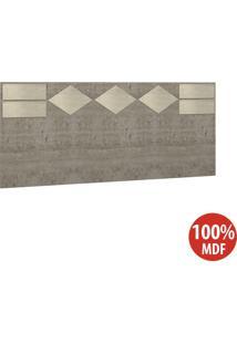 Cabeceira Casal 100% Mdf 22991 Demolição/Marfim Areia - Foscarini