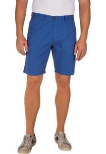 Bermuda Lisa Colombo Com Bolso Masculina - Masculino-Azul
