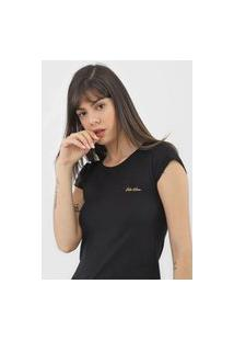Camiseta Polo Wear Flamê Preta