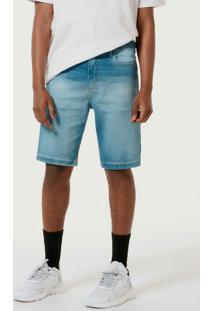 Bermuda Masculina Jeans Tradicional Azul-Escuro