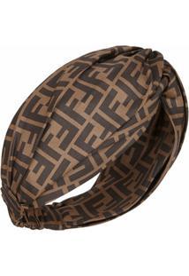 Fendi Headband Ff - Marrom