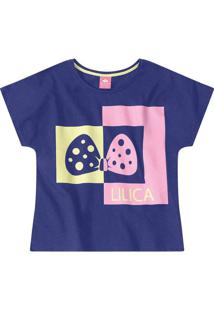 Blusa Lilica Collection Infantil - 10112723I Roxo