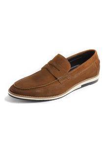 Sapato Loafer Balder Couro Caramelo