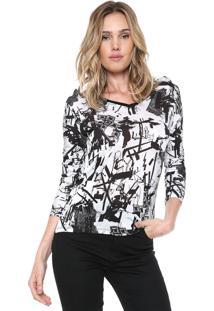Camiseta Zoomp Retilínea Branca