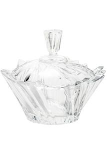 Bomboniere De Cristal Com Tampa Ikaro 13Cm - Unissex