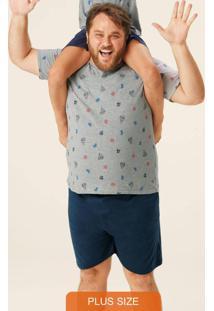 Pijama Mescla Náutico Masculino Plus