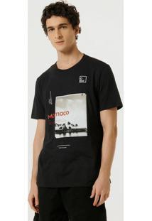Camiseta Masculina Regular Estampa Cromia