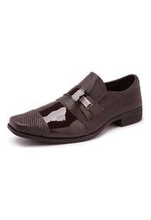 Sapato Social Masculino Verniz 734 Marrom