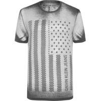 Camiseta Masculina Estampa Bandeira Usa - Preto 4f69711275be2