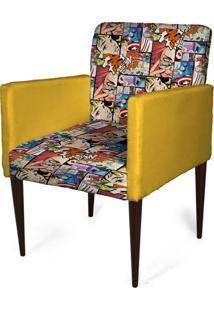 Cadeira Decorativa Sala Mademoiselle Plus Imp Digital 154