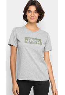 Camiseta Jeep Camuflada Mask Feminina - Feminino