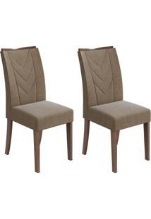Conjunto Com 2 Cadeiras Atacama L Imbuia E Marrom