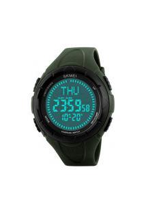 Relógio Skmei Digital-1232-Verde E Preto