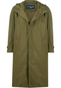 Comme Des Garçons Homme Concealed Front Parka Coat - Verde