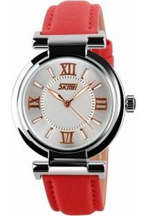 Relógio Skmei Analógico 9075 - Feminino-Vermelho