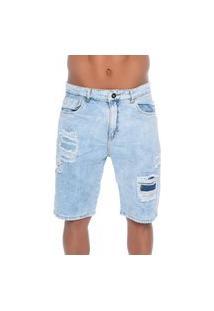 Bermuda Jeans Com Rasgos 12 Emporio Alex
