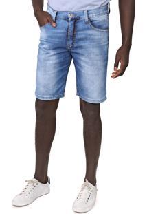 Bermuda Jeans Fatal Slim Estonada Azul - Kanui