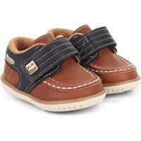 d7192aee2f Sapato Infantil Klin Masculino - Masculino-Caramelo+Preto