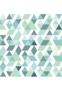 Papel De Parede Adesivo Triângulos Tons De Verdes (0,58M X 2,50M)