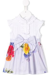 Lapin House Vestido Floral - Branco