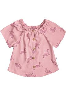 Blusa Infantil Hering Estampada Feminina - Feminino