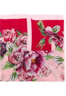 Dolce & Gabbana Cachecol Com Estampa De Cashmere - Rosa