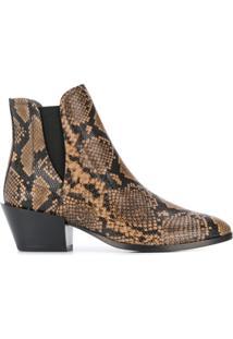 Tod'S Ankle Boot Com Estampa Pele De Cobra - Neutro