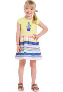 Vestido Infantil Menina Brandili Amarelo