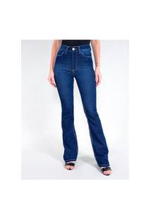 Calça Jeans Flare Com Cinta Feminina Revanche Fit Belt Jacalyn