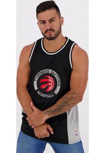 Regata Nba Toronto Raptors Preta E Cinza