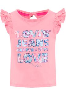 Camiseta Infantil Feminina Manga Curta - Rosa