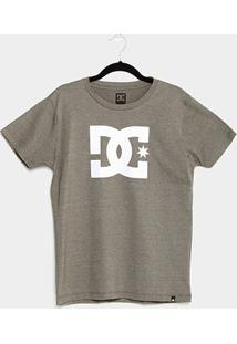 Camiseta Juvenil Dc Shoes Logo Masculina - Masculino-Verde Militar