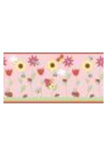 Papel De Parede Adesivo Decoração 53X10Cm Rosa -W22980
