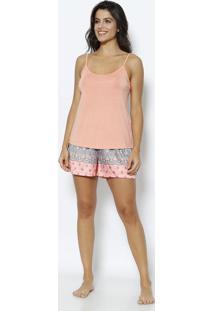 5e881ff7b Short Doll Arabescos- Laranja & Azuldaniela Tombini