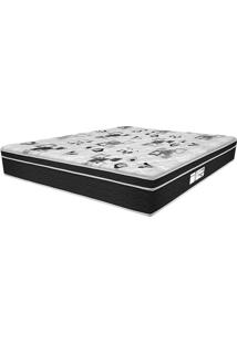 Colchão Queen Pillow Top Prodormir Born Black - Probel - Branco / Black