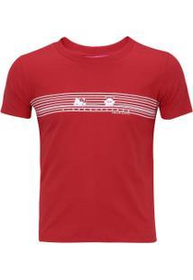 Camiseta Kings Listras Feminina - Infantil - Vermelho