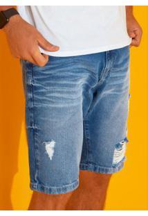 Bermuda Azul Jeans Cintura Média