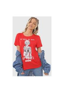 Camiseta Colcci My Power Vermelha