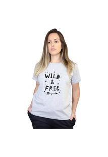 Camiseta Boutique Judith Wild And Free Cinza