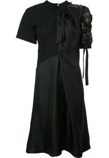 Maison Margiela Vestido Com Bordado - Preto