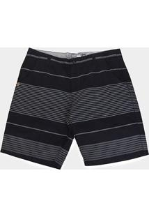 Bermuda Gajang Listrada Plus Size Masculina - Masculino-Preto