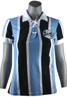 Camiseta Feminina Grêmio Retro 1930 Natural Cotton