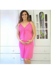 Camisola Para Amamentação Em Liganete Rosa G - Dj09 Dica De Lingerie