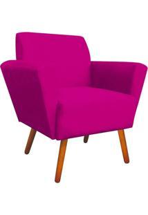 Poltrona Decorativa Dora Suede Pink - D'Rossi