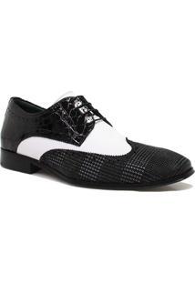 Sapato Zariff Shoes Social Couro Verniz Preto
