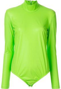 Facetasm Long-Sleeve Playsuit - Verde