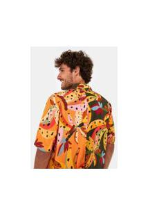 Camisa Meio A Meio Estampada Bananissima