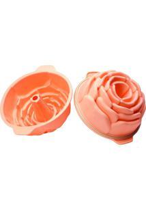 Forma De Silionce Rose Silikomart Salmão 22X10Cm - 15972