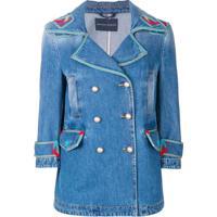 ecb5117513c Ermanno Scervino Jaqueta Jeans Com Bordado - Azul